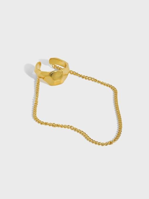 DAKA 925 Sterling Silver Tassel Minimalist Threader Earring [Single]